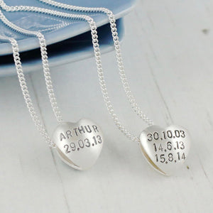 sterling silver personalised necklace