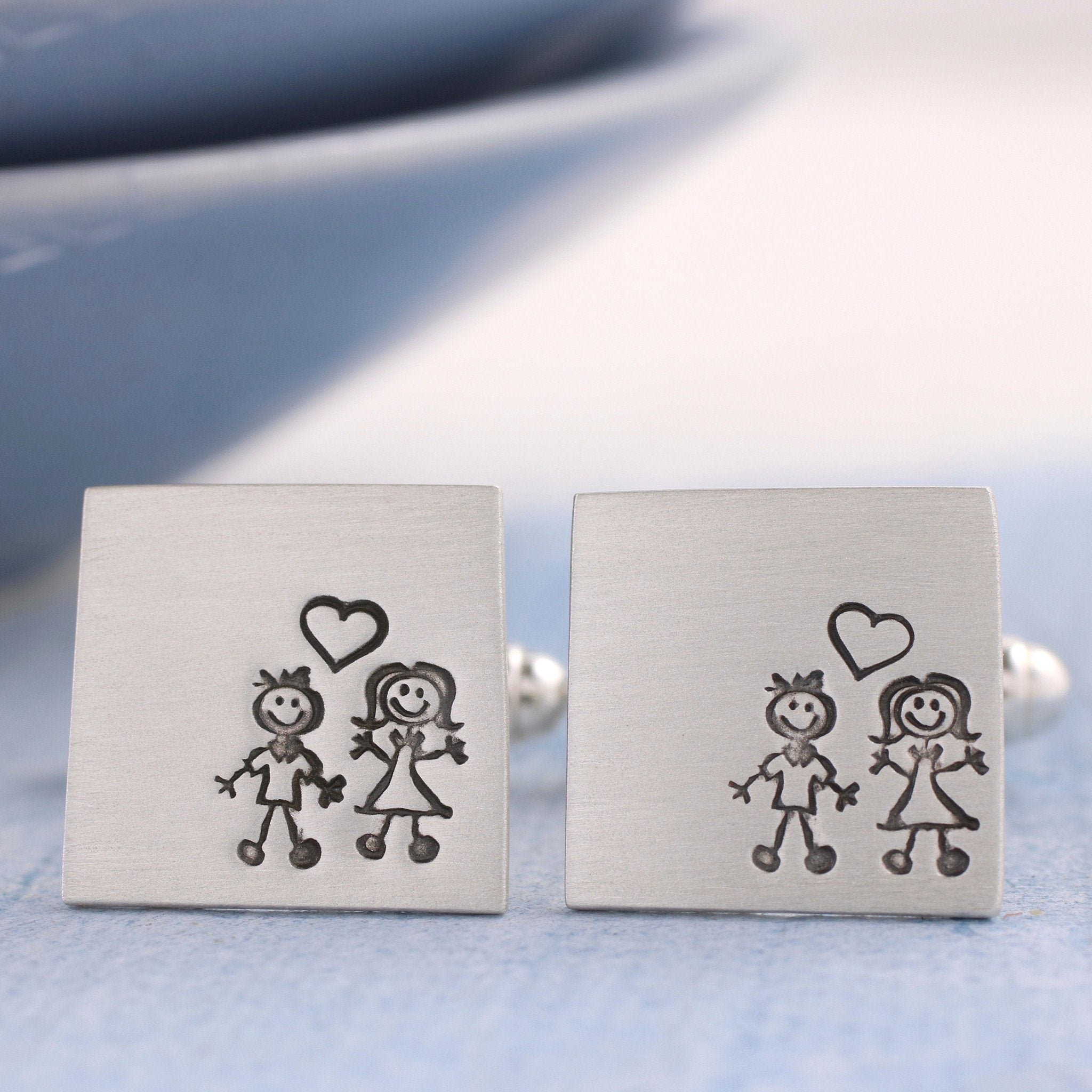 Boy and girl cufflinks
