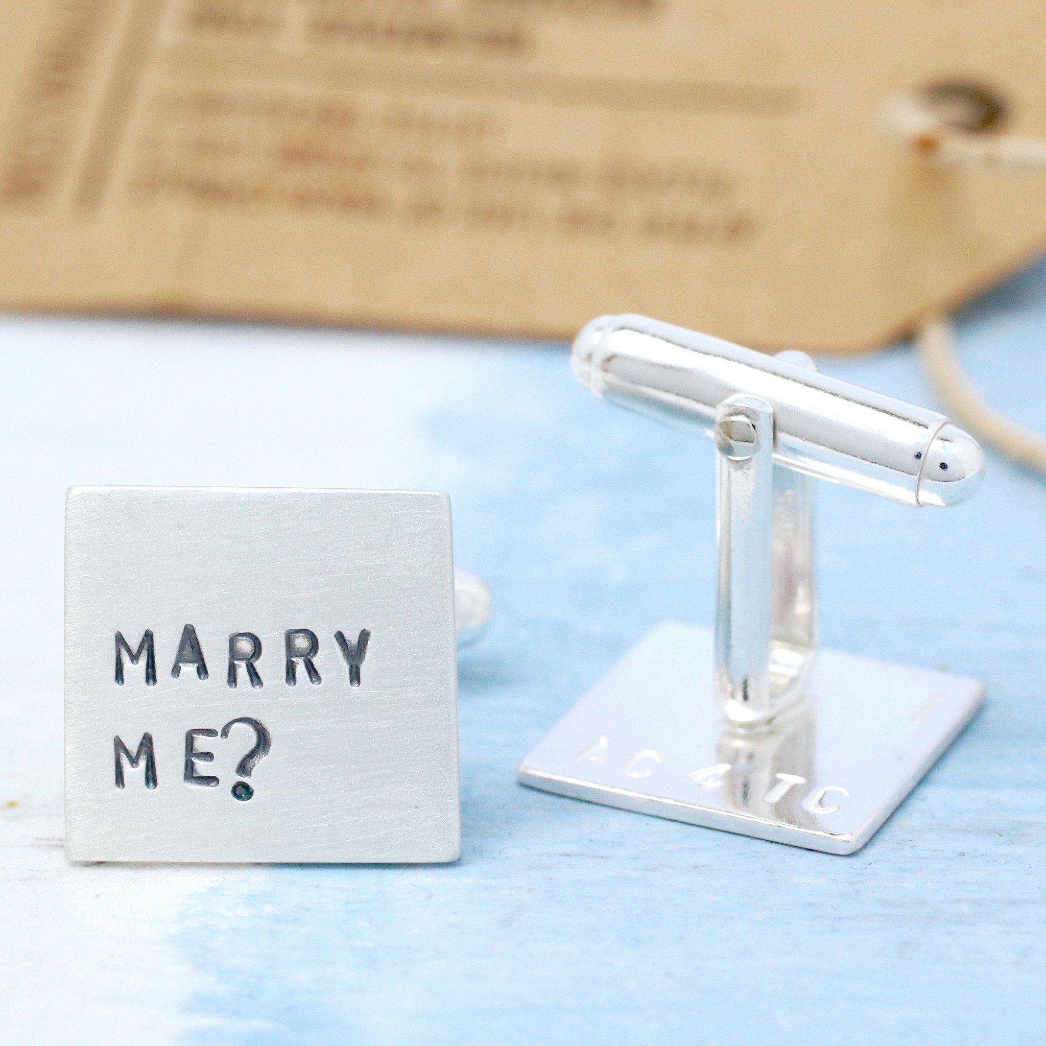 gay wedding proposal cufflinks