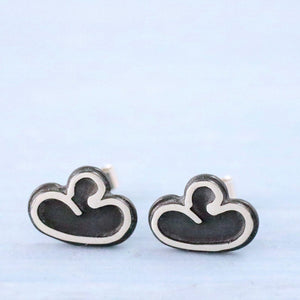black cloud post stud earrings