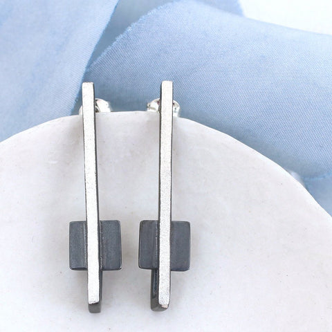 Art Deco Square Geometric Earrings