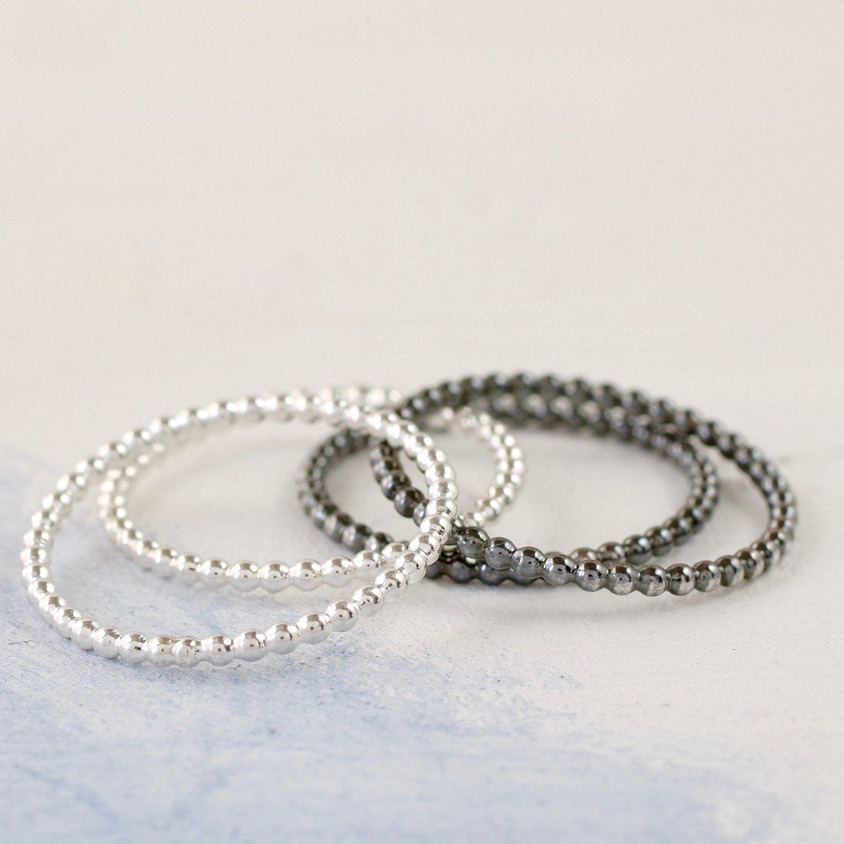 sterling silver skinny thumb rings