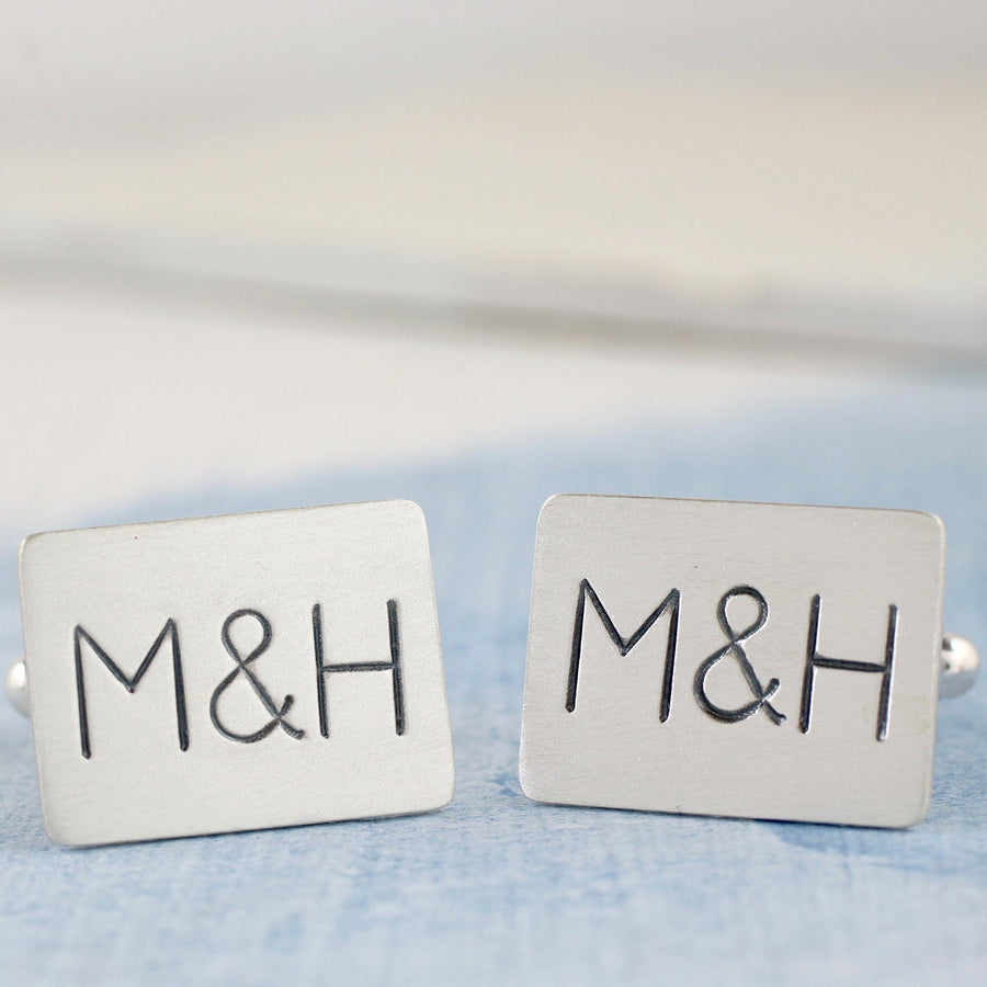 Personalised Silver Monogram Cufflinks