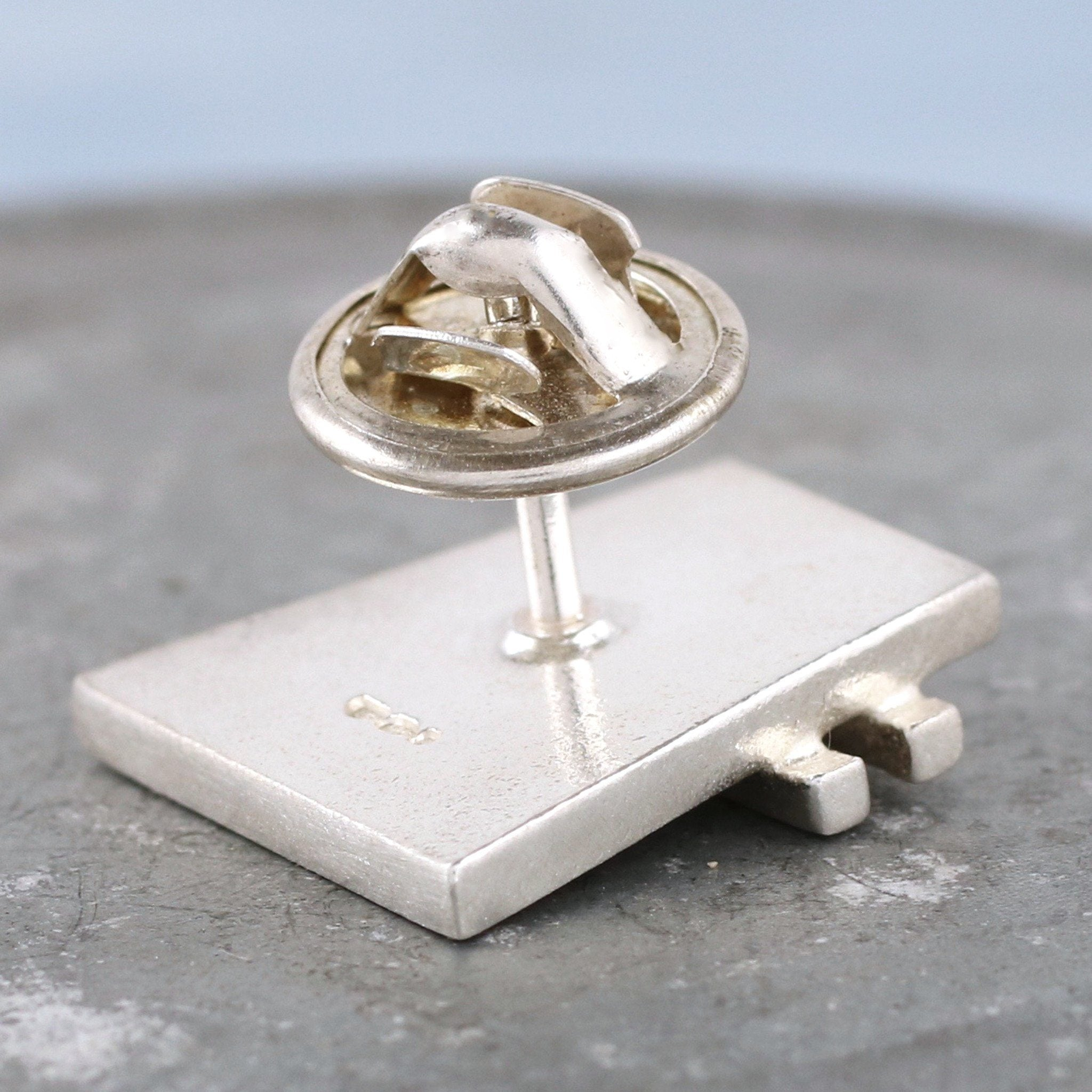 sterling silver tie tack