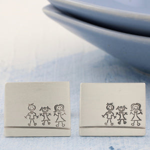 family portrait cufflinks gift