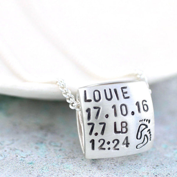 Personalised New Baby Necklace