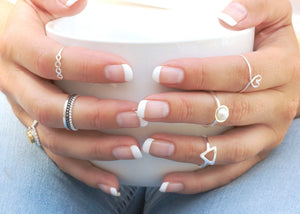 handmade silver stacking rings