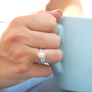 Pearl anniversary ring gift