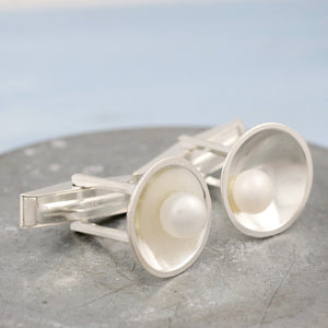 Pearl Wedding Cufflinks