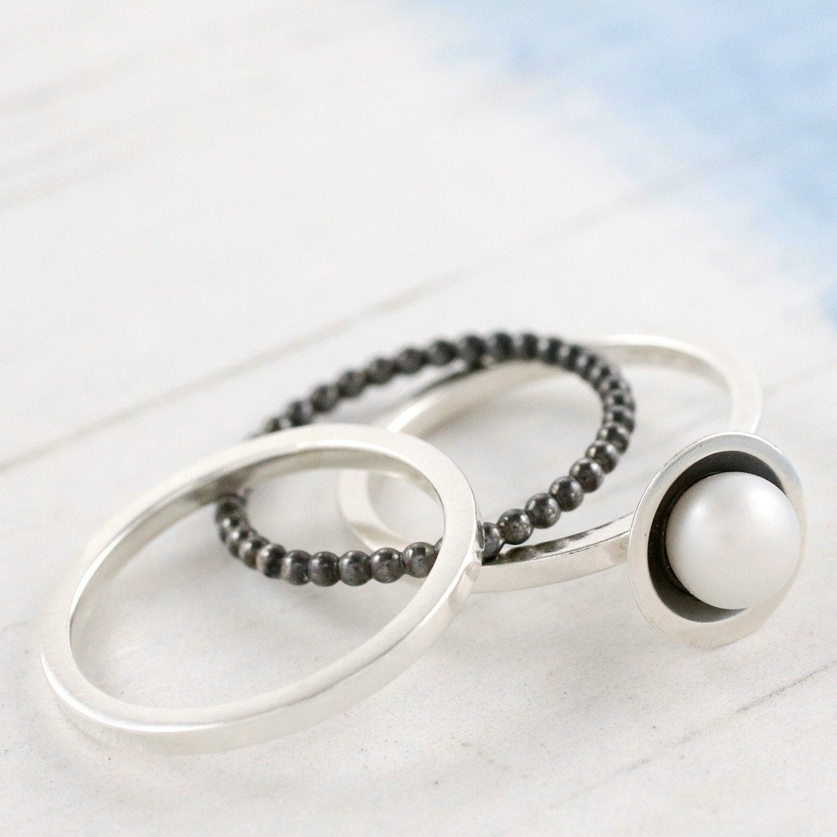 pearl anniversary gift ring