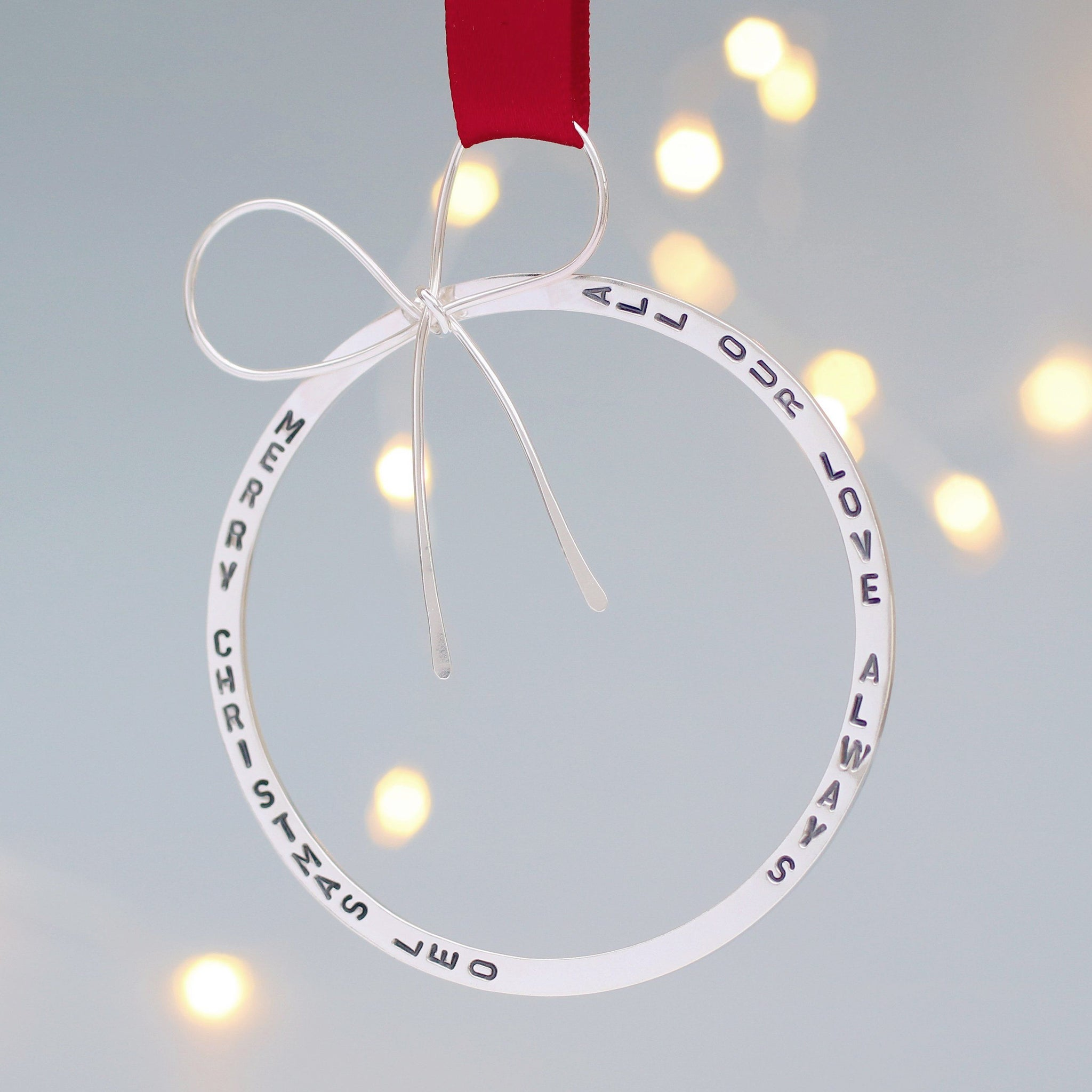 sterling silver christmas ornamnet