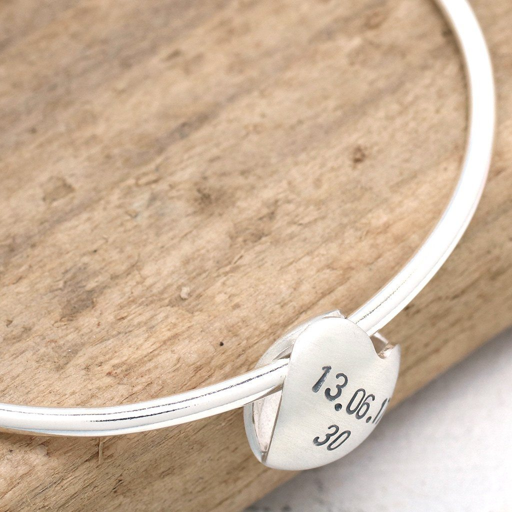 mum heart personalised bracelets keepsake products jewellery magroos louy for bangle silver bracelet spinning