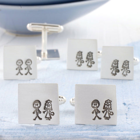 Bride And Groom Secret Message Wedding Cufflinks