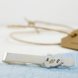 personalised tie clip gift