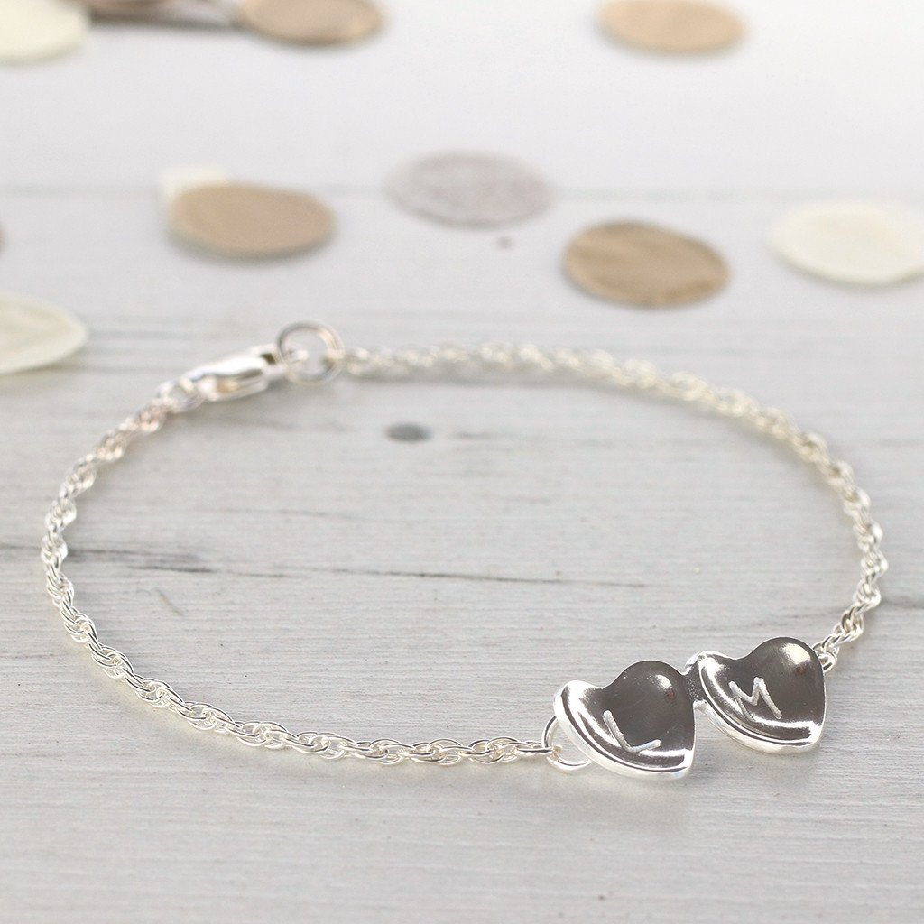 customised silver heart jewellery