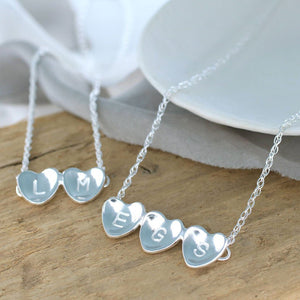 Personalised Heart Necklace. Valentines Gift