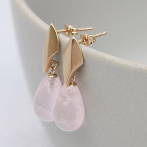 Rose Quartz dropper earrings
