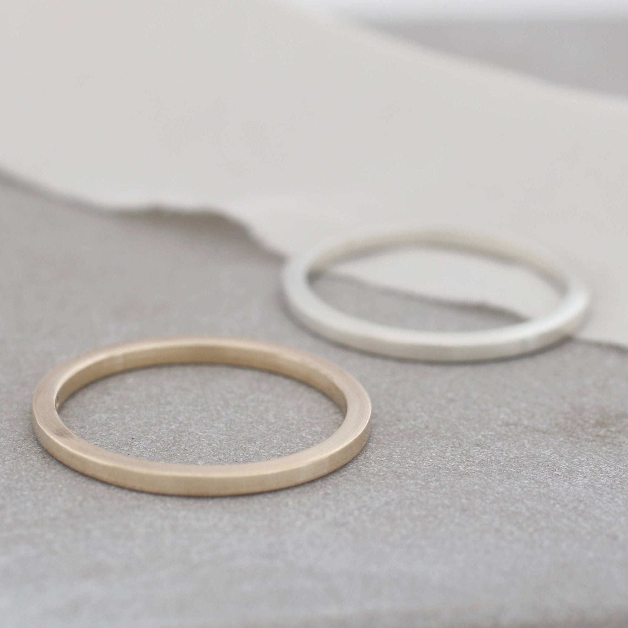 Plain Band Rings. 9ct Gold Stackable Ring