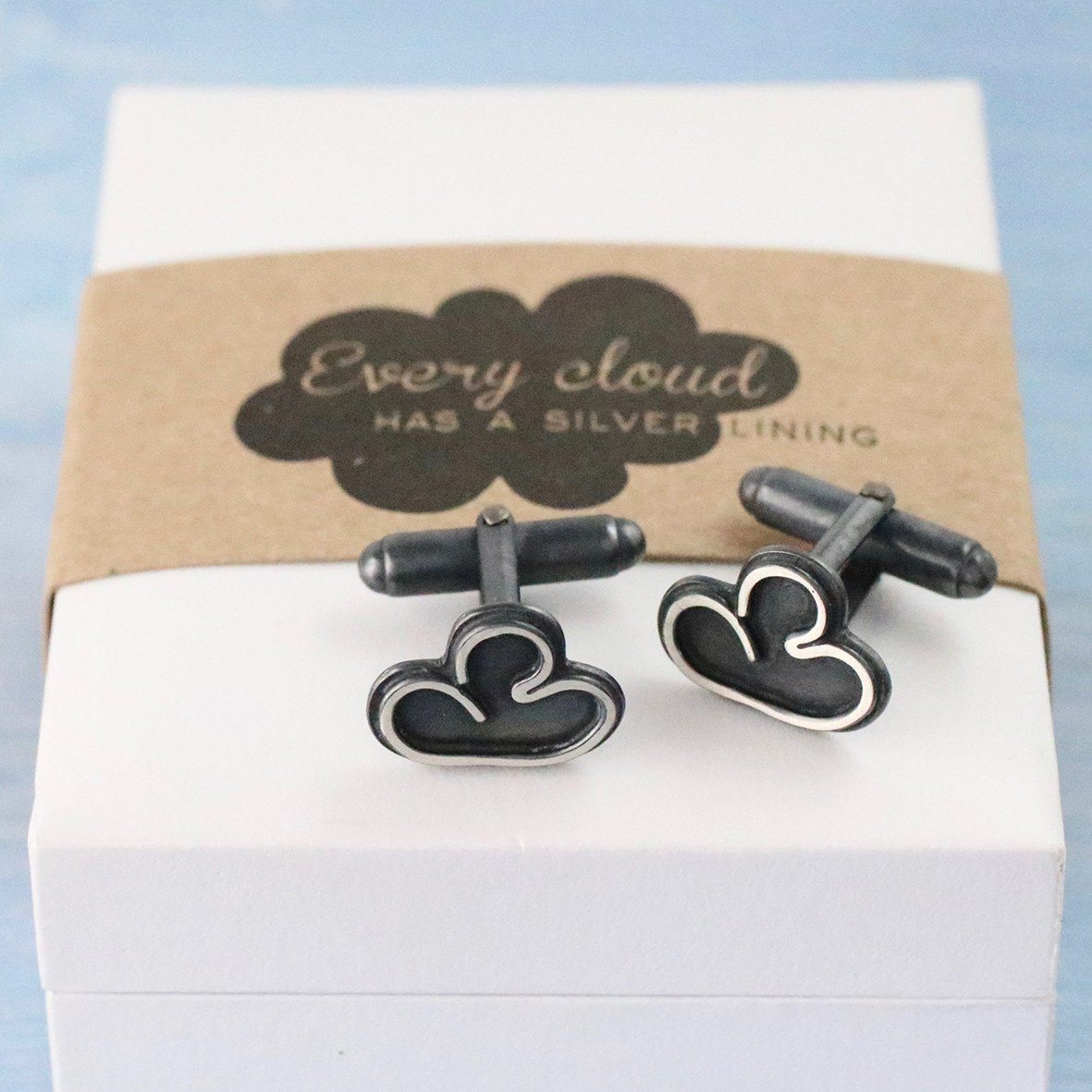 Cloud Cufflinks. Thinking Of You Gift For Friend