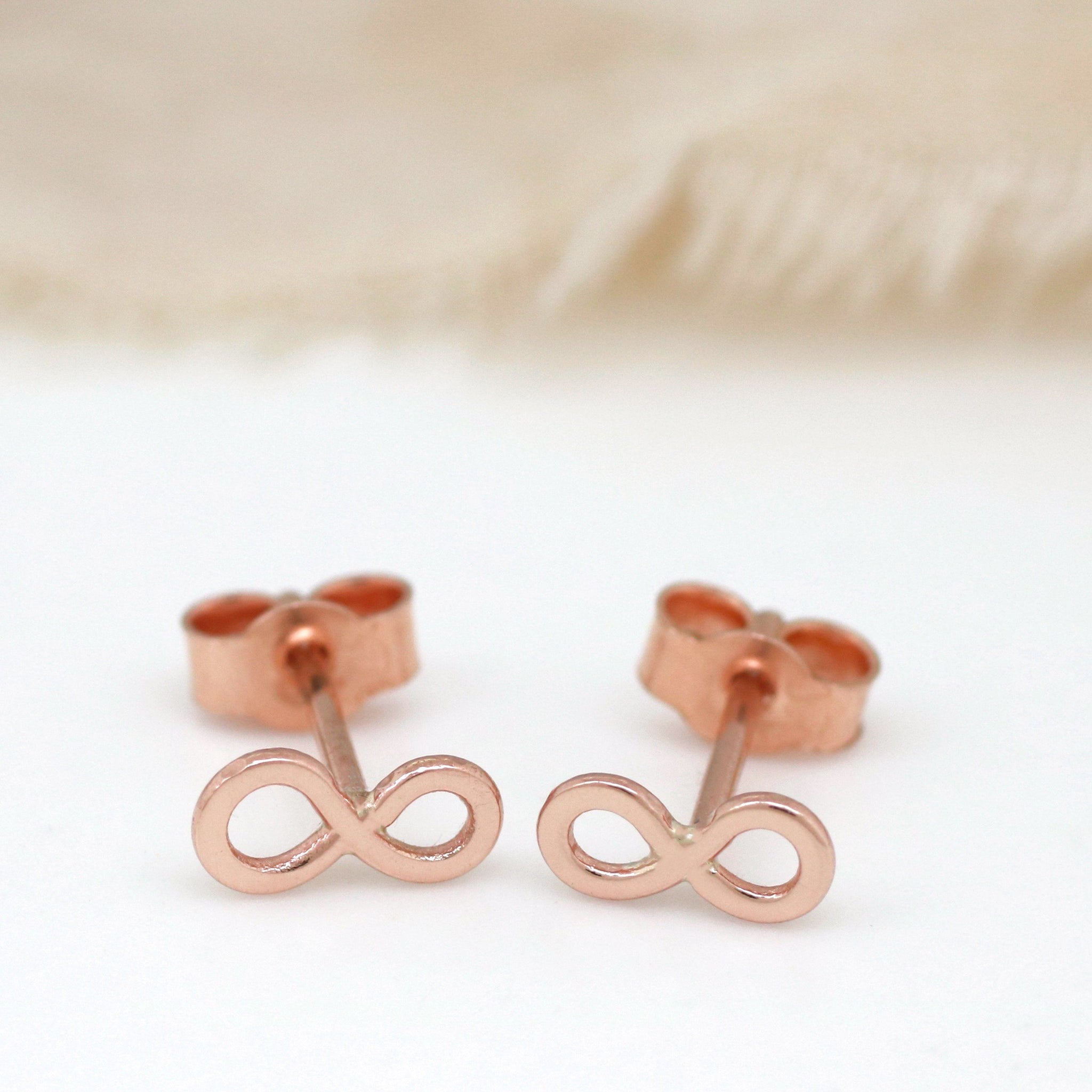 tiny rose gold earrings