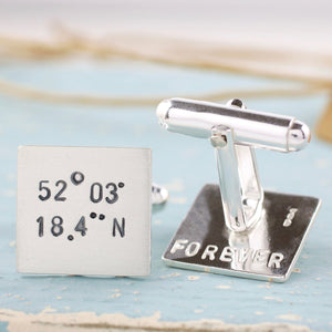 Location wedding cufflinks