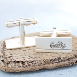 motorbike wedding cufflinks