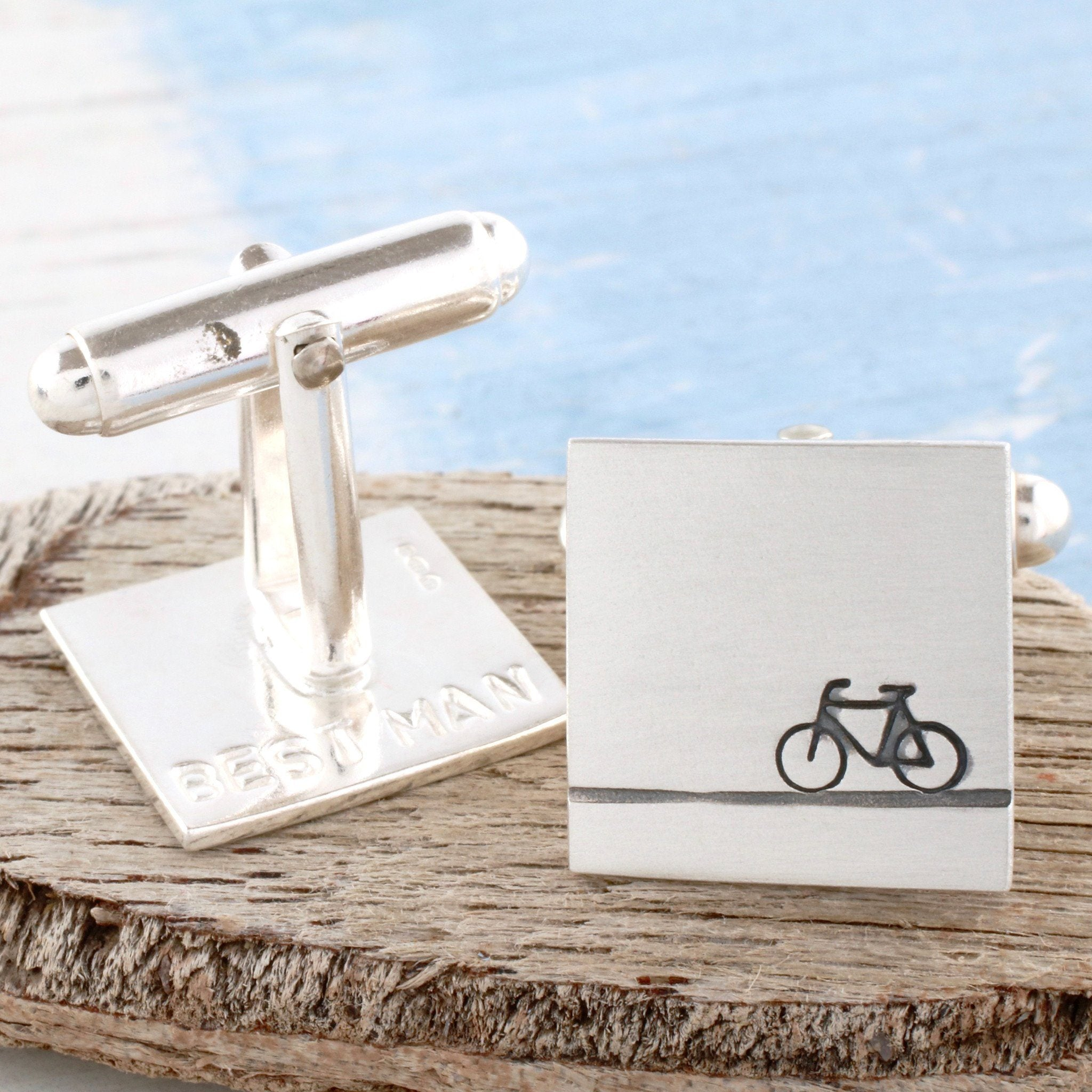 secret message bike cufflinks