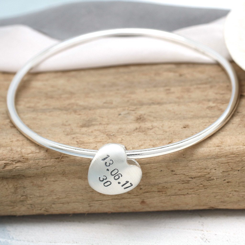 personalised bangle for 30th birthday