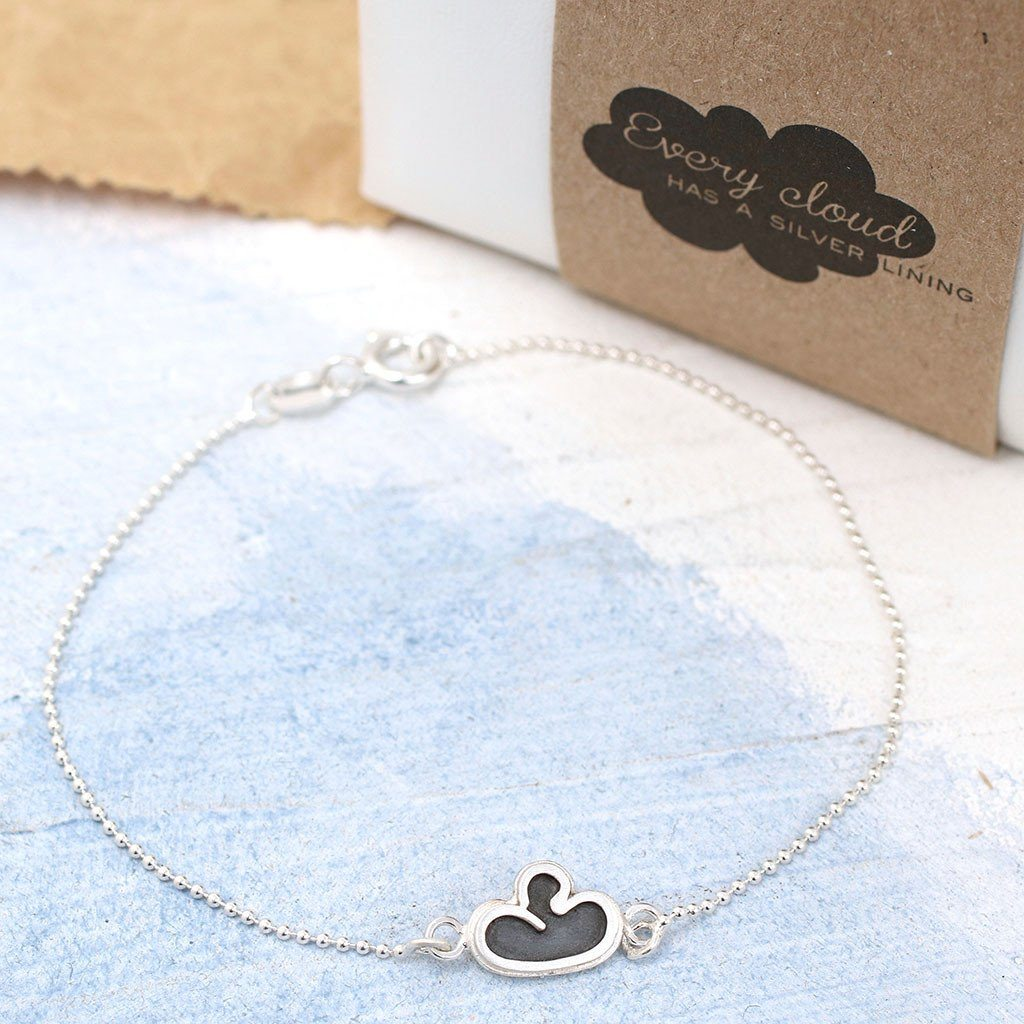 dainty cloud bracelet