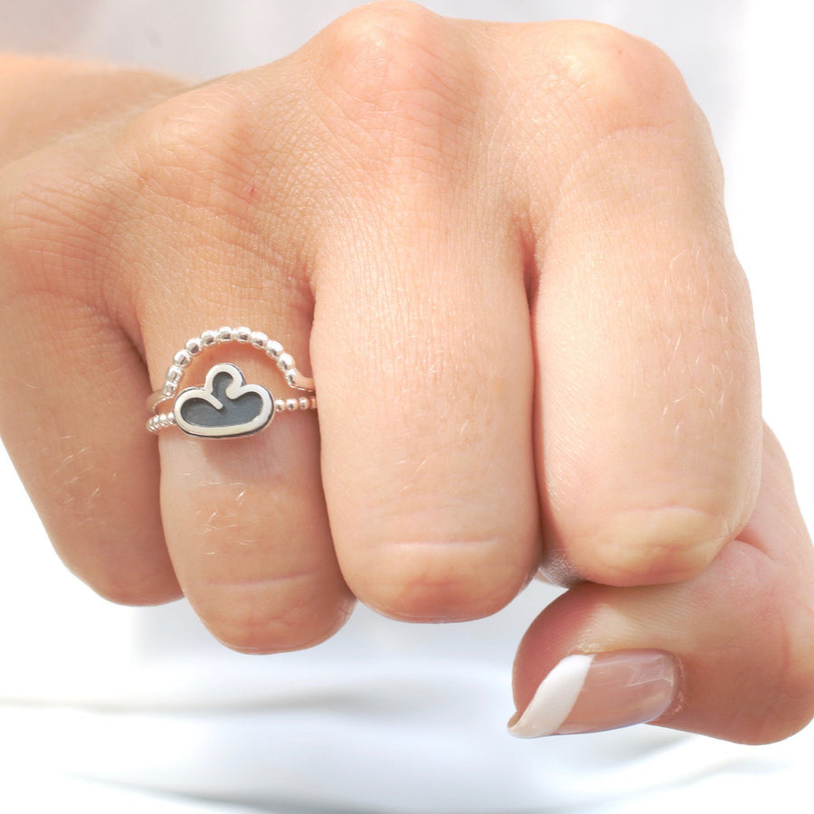 Silver Linings Cloud Ring