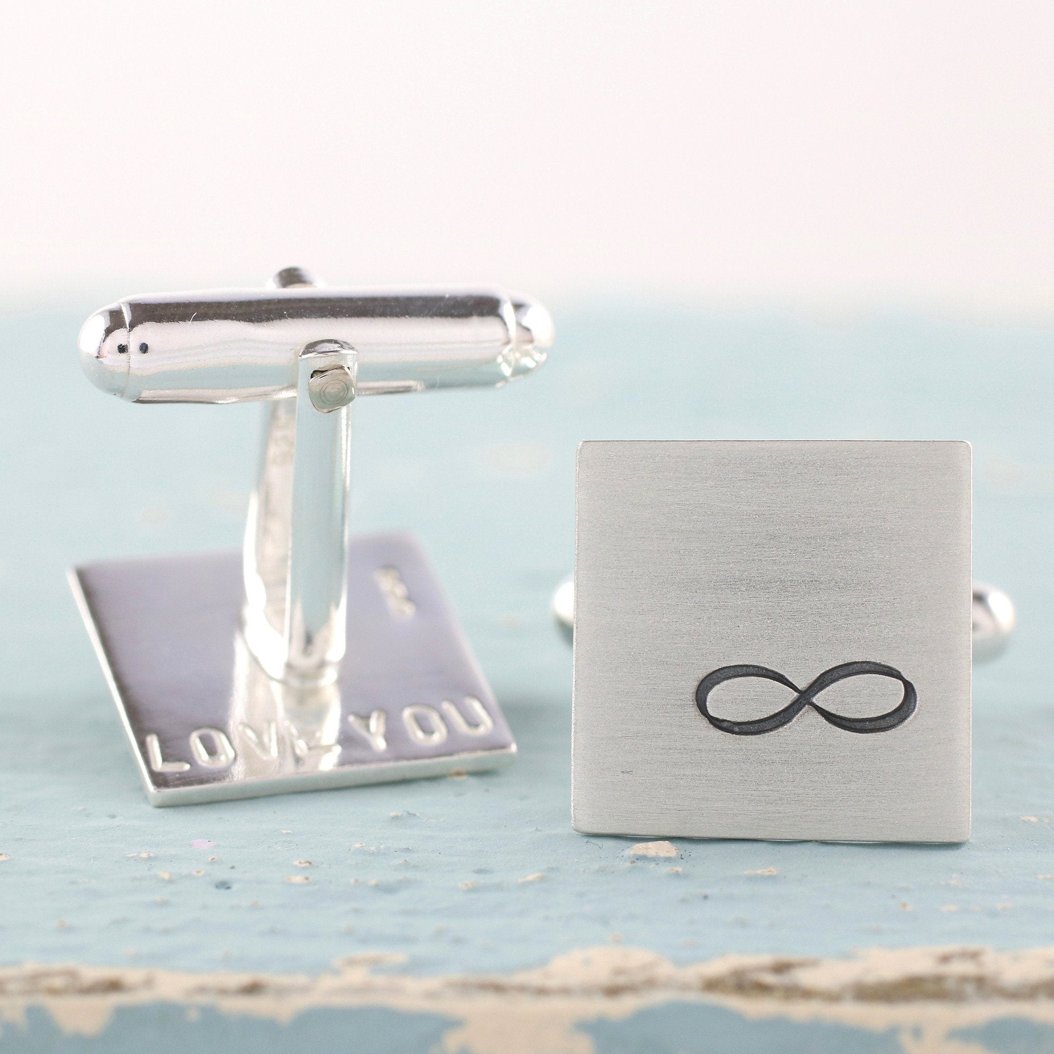 Personalised Silver Infinity Cufflinks