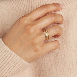 simple gold band ring