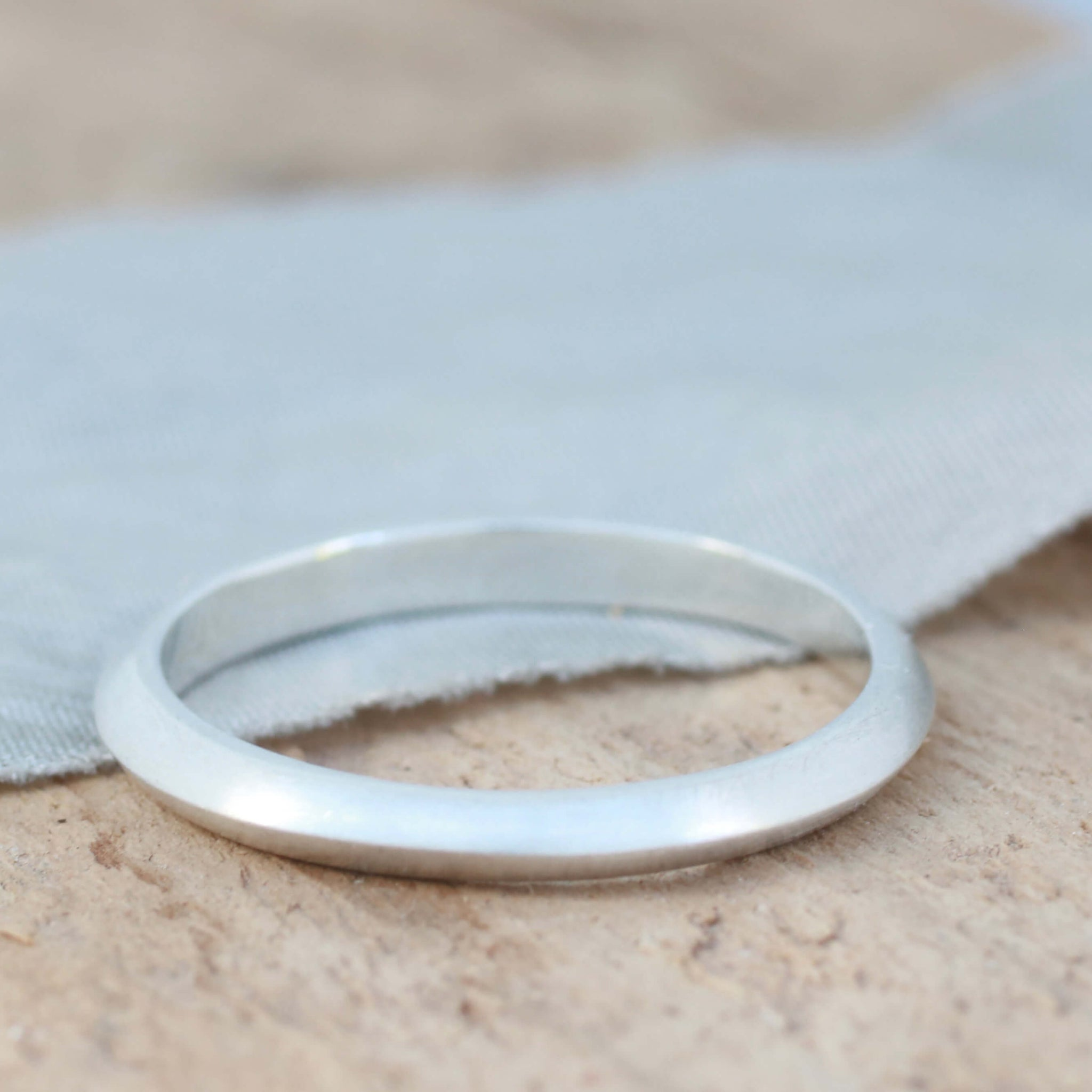 Thin Band Ring. Sterling Silver Stackable Carved Ring