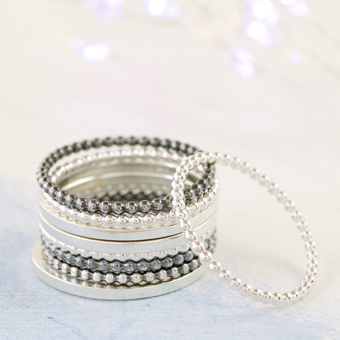 Sterling Silver Skinny Stacker Rings