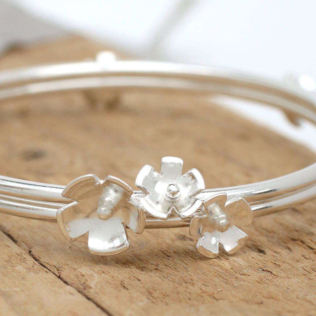 flower jewellery bangle bracelet