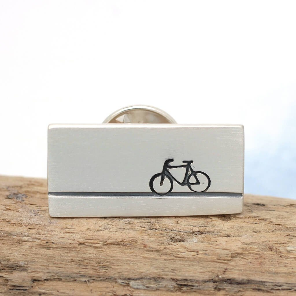 bicycle tie tack gift for cyclist