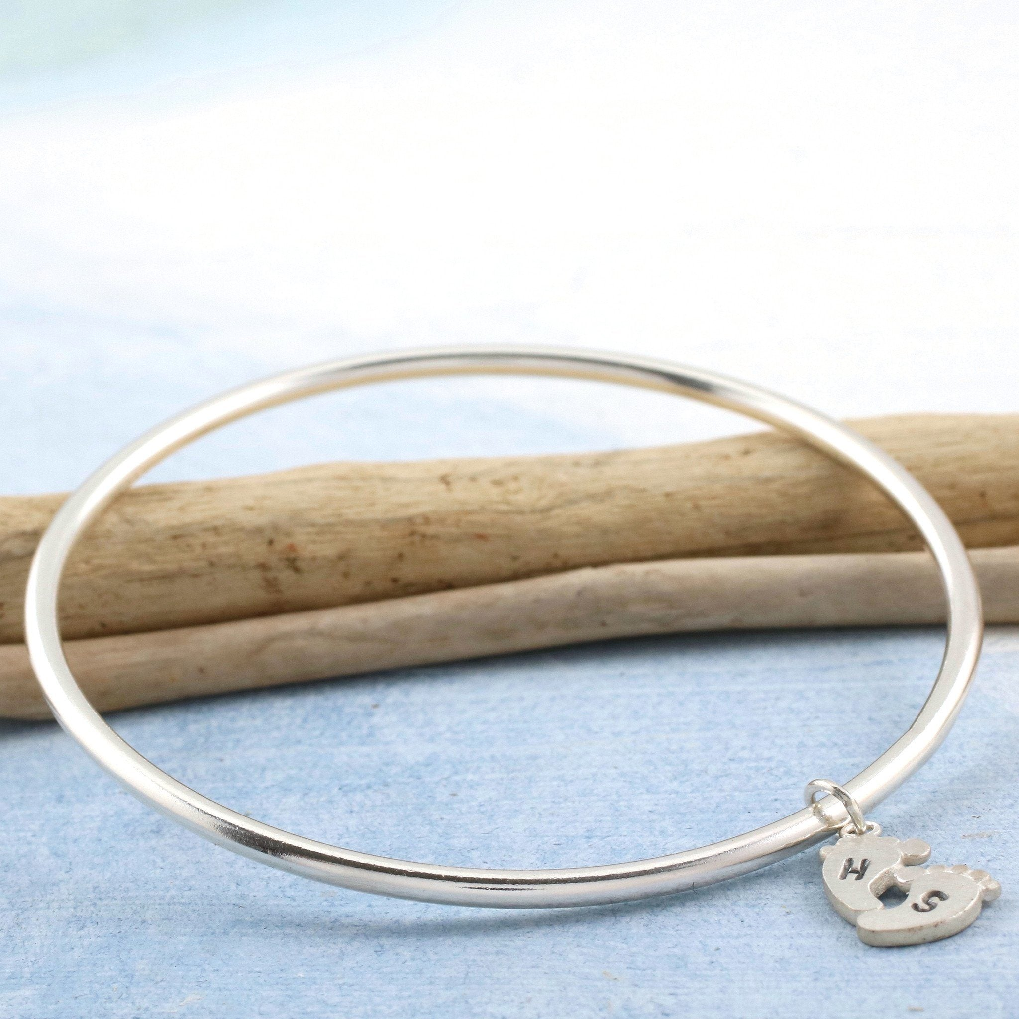 silver bracelets inch asp single chunky sterling cm uk with bar fastening p school heart bangles link bangle charm