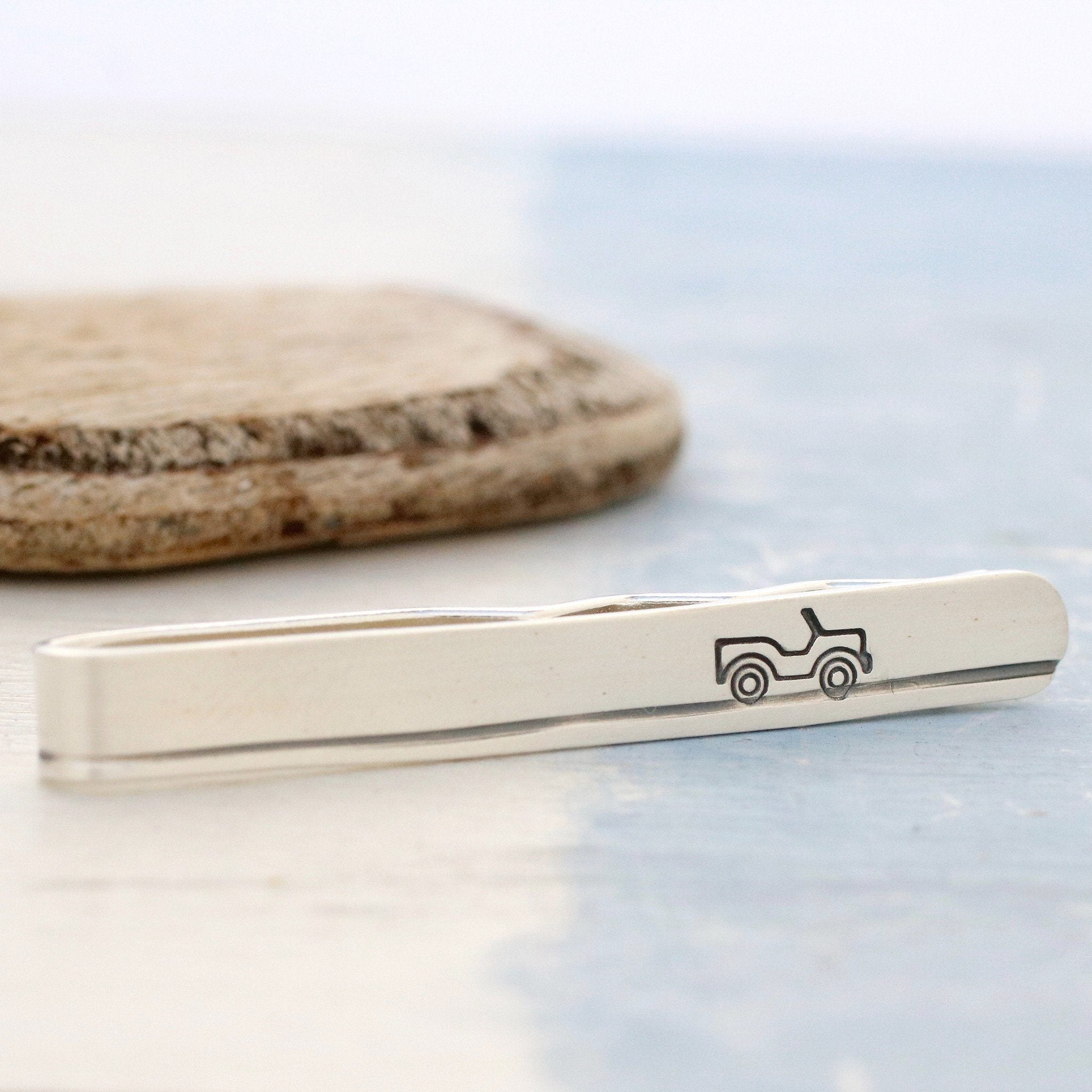 Sterling Silver Car Tie Slide