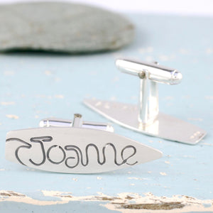 personalised surfer cufflinks