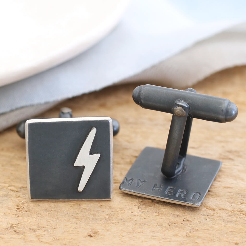 lightening bolt cufflinks