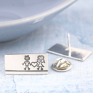 Sterling Silver lapel pin