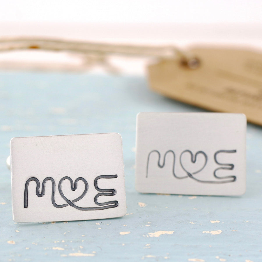 Custom Monogram Cufflinks.