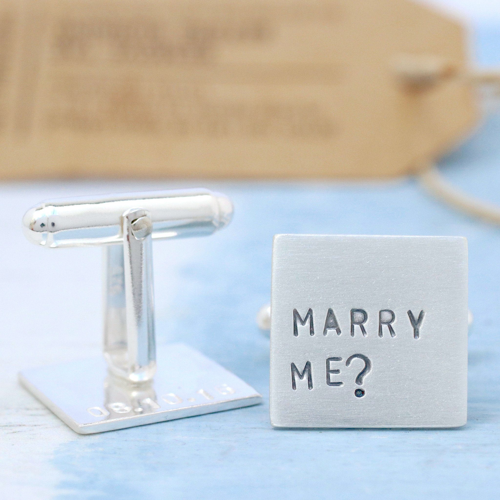 Marry Me Proposal Cufflinks