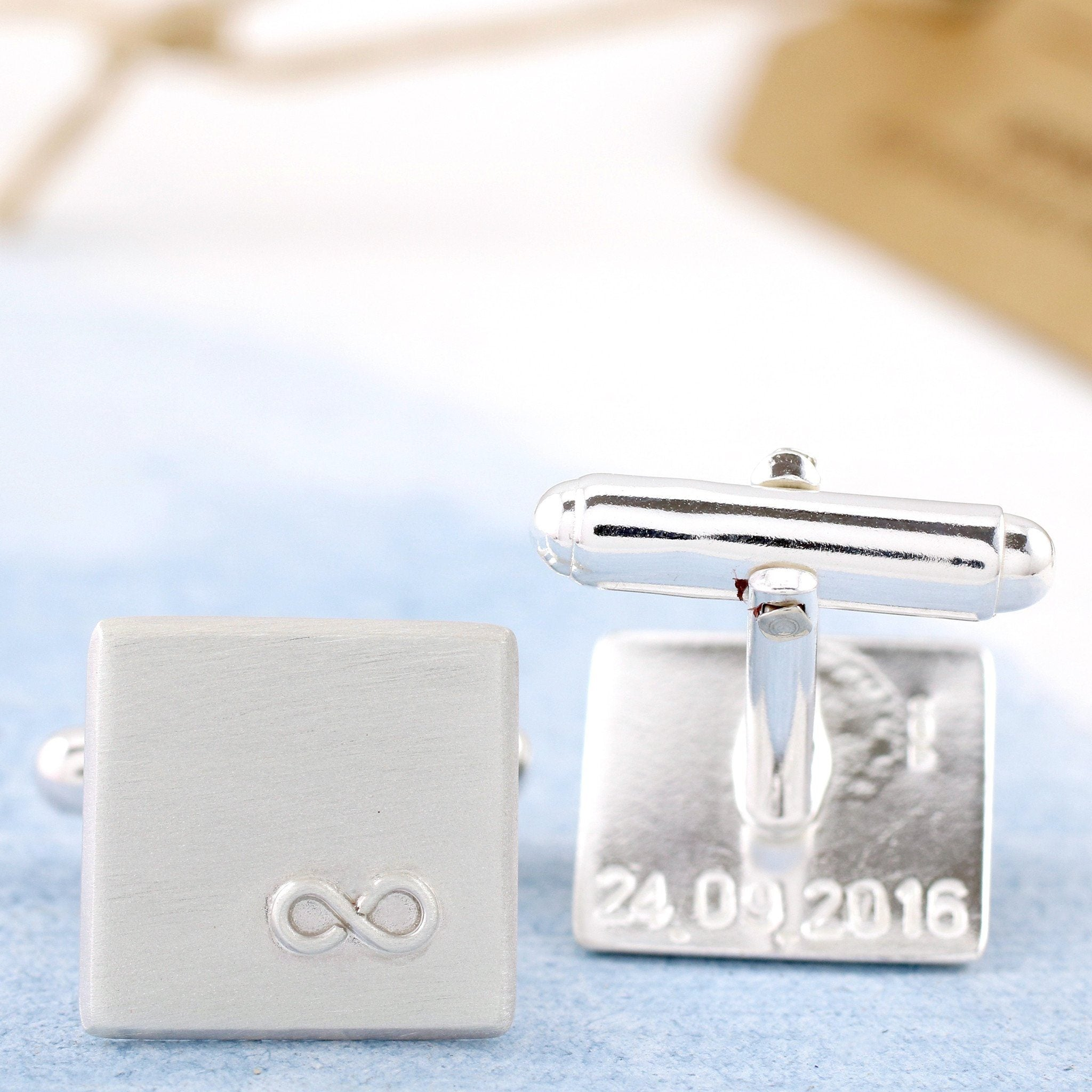 secret message silver cufflinks