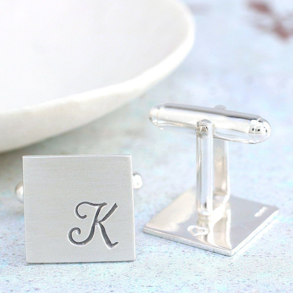 Initial Cufflinks. Personalised Wedding Cufflinks