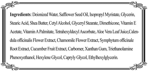 Potion Lotion Ingredients
