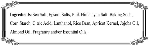 Salt Soak Ingredients
