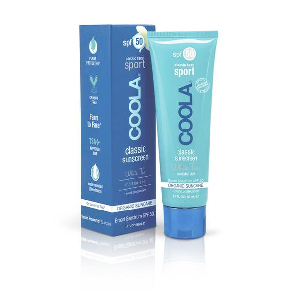 Coola - Sport Face SPF 50 White Tea Organic Sunscreen Lotion