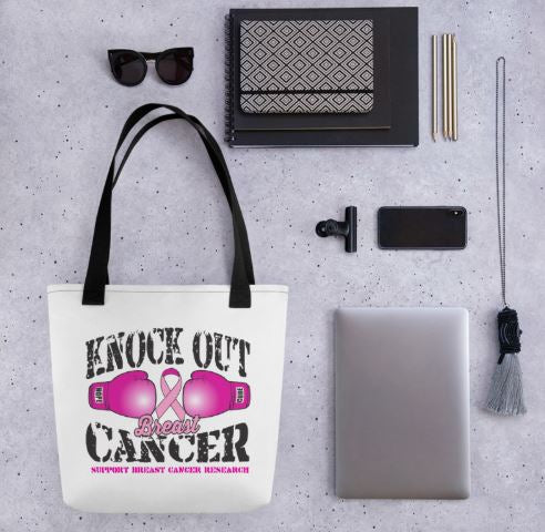 Knock Out Breast Cancer Tote Bag