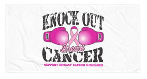 Knock Out Breast Cancer Beach Towel